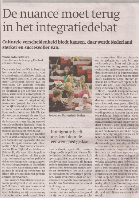 Artikel Trouw april 2012