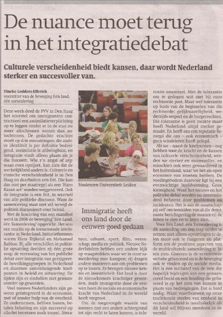 Artikel Trouw april 2012